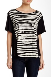 Vanilla Sugar Terra Crew Neck Embellished Tee Black
