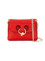 J.W.Anderson Mini Pierce Shoulder Bag Women Leather Metal One Size Red