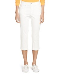 Lauren Ralph Lauren Sateen Golf Straight Pants White