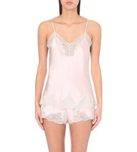 Nk Imode Morgan Retro Silk Satin Camisole Lotus Pink M Light Grey
