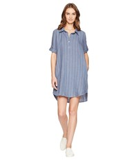 Allen Allen Boxy Pullover Dress Sailor Blue