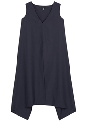 The Row Vedon Navy Woven Silk Tunic