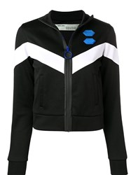 Off White Chevron Track Jacket Black