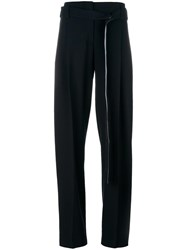 Cedric Charlier Side Panel Trousers Black