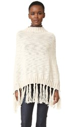 Hat Attack Knit Poncho Oat