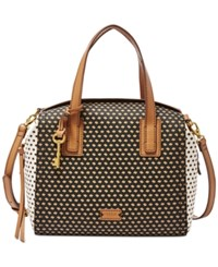 Fossil Emma Satchel Black Multi
