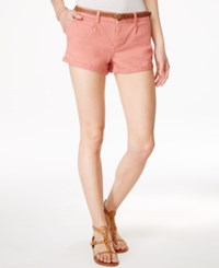 American Rag Cuffed Belted Colored Denim Shorts Only At Macy's Sand