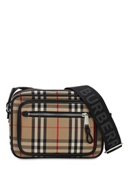 Burberry Paddy Check Canvas Crossbody Bag Archive Beige