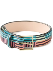 Paul Smith 'Miami' Striped Belt Multicolour