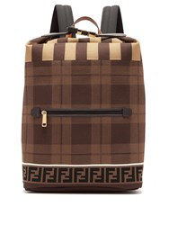 Fendi Ff Technical Knit Backpack Brown Multi