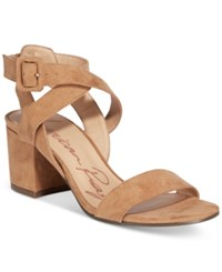 American Rag Caelie Block Heel Sandals Only At Macy's Women's Shoes Camel