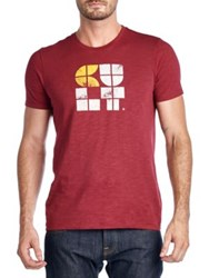 Cult Of Individuality Square Logo Tee Burgundy
