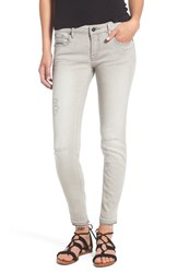 Vigoss Women's Released Hem Distressed Skinny Jeans Grey