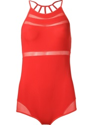 Giuliana Romanno Panelled Body Red