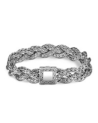 John Hardy Classic Chain Sterling Silver Small Braided Bracelet