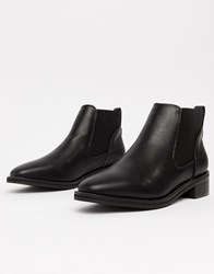 Truffle Collection Flat Chelsea Boots Black