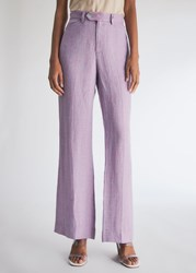 Maryam Nassir Zadeh Clover Trousers In Lilac Size 0