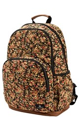 Junior Women's Volcom 'Fieldtrip' Print Canvas Backpack Black