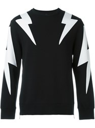 Neil Barrett Lightning Bolt Sweatshirt Black