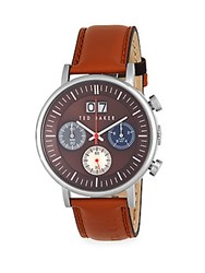 Ted Baker Stainless Steel Quartz Watch Brown