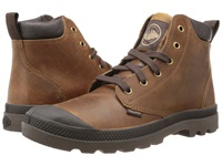 Palladium Pampa Hi Cuff Lea Sunrise Chocolate Men's Boots Brown
