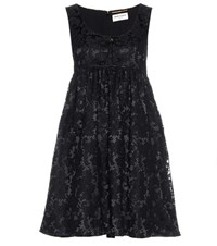 Saint Laurent Lace Dress Black