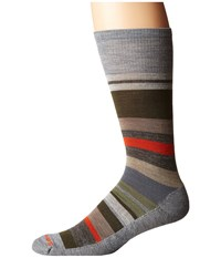 Smartwool Saturnsphere Light Gray Heather Loden Men's Crew Cut Socks Shoes Multi