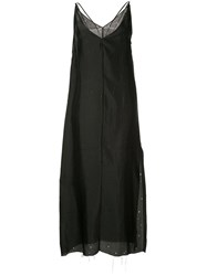Yang Li Plunge Slip Dress Black