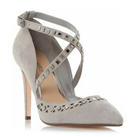 Head Over Heels Cosmos Embellished Cut Out Court Shoe Grey