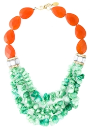Katerina Psoma Multi Bead Row Necklace