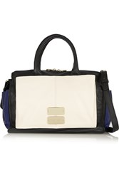 See By Chloe Nellie Textured Leather Duffle Bag White