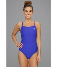 Tyr Diamondback Solid Female Royal Women's Swimsuits One Piece Navy