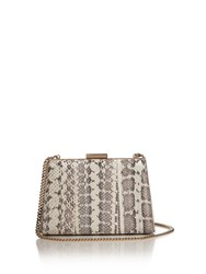 Lanvin Le Petit Sac Snakeskin Box Clutch White Multi