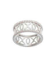 Lord And Taylor Cubic Zirconia Xo Eternity Ring Silver