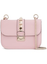 Valentino 'Glam Lock' Shoulder Bag Pink And Purple