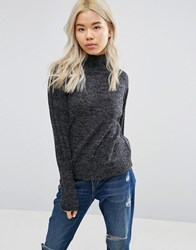 Blend She Nette Funnel Neck Jumper Grey Mel