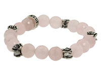 King Baby Studio 10Mm Rose Quartz Four Roses Bracelet