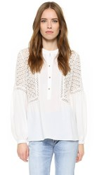 Twelfth St. By Cynthia Vincent Peasant Top Eggshell
