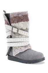 Muk Luks Nevia Convertible Sweater Boot Gray