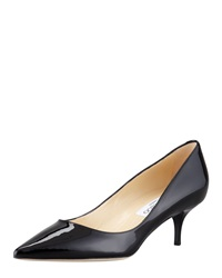 Jimmy Choo Aza Low Heel Patent Pump Black