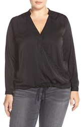 Plus Size Women's Eloquii Faux Wrap High Low Blouse Plus Size