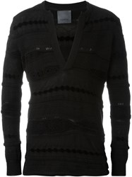 Laneus V Neck Jumper Black