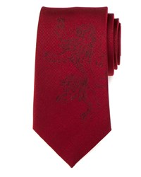 Cufflinks Inc. Game Of Thrones Lannister Lion Sigil Silk Tie Red