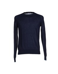 H Sio Knitwear Jumpers Men Dark Blue