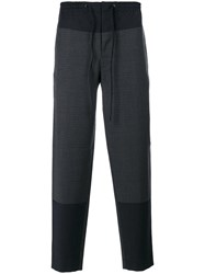 Cedric Charlier Embroidered Casual Trousers Wool Other Fibres Grey