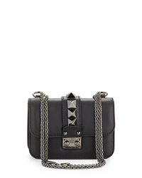 Lock Half Flap Small Shoulder Bag Black Valentino
