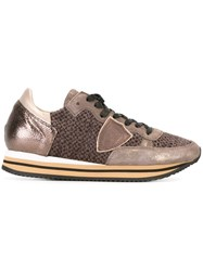 Philippe Model Panelled Sneakers Brown
