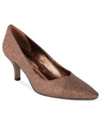 Easy Street Shoes Easy Street Chiffon Pumps Women's Shoes Bronze Glitter