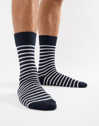 Selected Homme Stripe Sock Navy