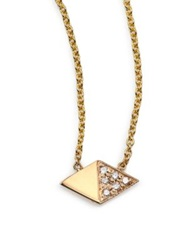 Zoe Chicco Diamond And 14K Yellow Gold Double Triangle Necklace